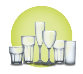 Frosted Plastic Polycarbonate Glasses - Elite