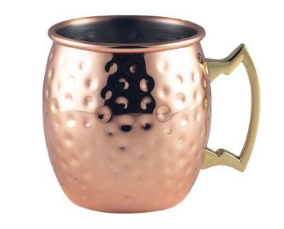 Barrel Copper Mug 40cl/14oz Hammered