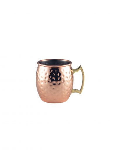 Barrel Copper Mug 40cl/14oz Hammered