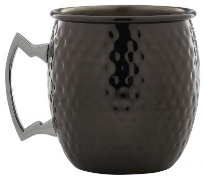 Barrel Gun Metal Mug 55cl/19.25oz Hammered