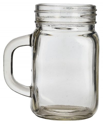 Genware Glass Mason Jar 45cl / 16oz