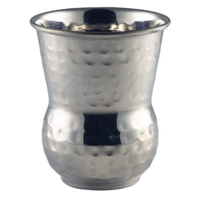 Moroccan Stainless Steel Hammered Tumbler 40cl 14oz