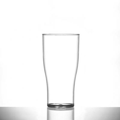Nonic Polycarbonate Pint / 20 oz Glasses CE - 100 Pack