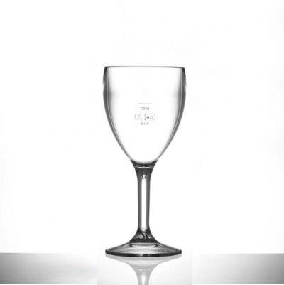 Premium Polycarbonate Plastic 9oz Wine Glass - 12 Pack | Lined @ 125ml