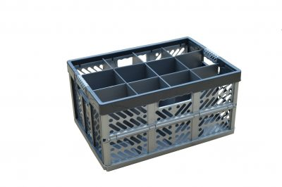 2. Folding Crate - Glassware Box - 12 cells - ref. 245-12-FC