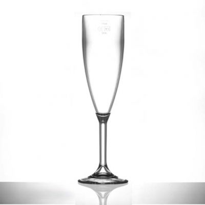 Lined @ 175ml Elite Premium Polycarbonate Champagne Flutes - 12 Pack