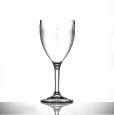 Lined @ 175ml and 250ml  Elite Premium Polycarbonate Wine Glasses, 11oz - 12 Pack