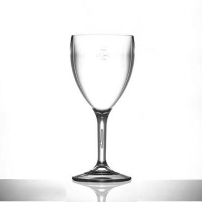 Lined @ 250ml Elite Premium Polycarbonate 11oz Wine Glasses - 12 Pack