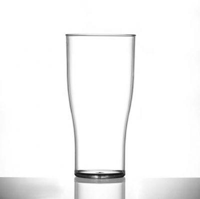 Elite Polycarbonate Plastic Tulip Pint / 20 oz Glasses - 48 Pack
