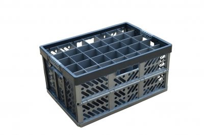 5. Folding Crate - Glassware Box - 35 cells - ref. 245-35-FC