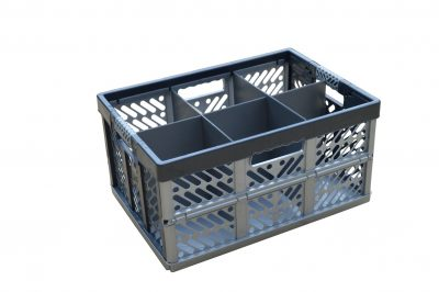 1. Folding Crate - Glassware Box - 6 cells - ref. 245-6-FC