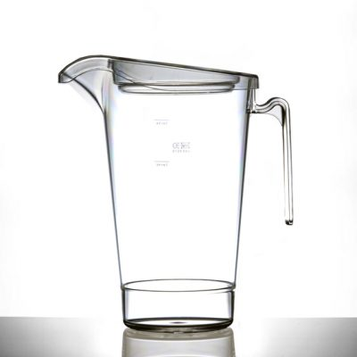 Elite Polycarbonate In2stax 4 Pint / 2.2L Jug & Lid - CE Marked : Lined @ 4, 3, 2 Pint