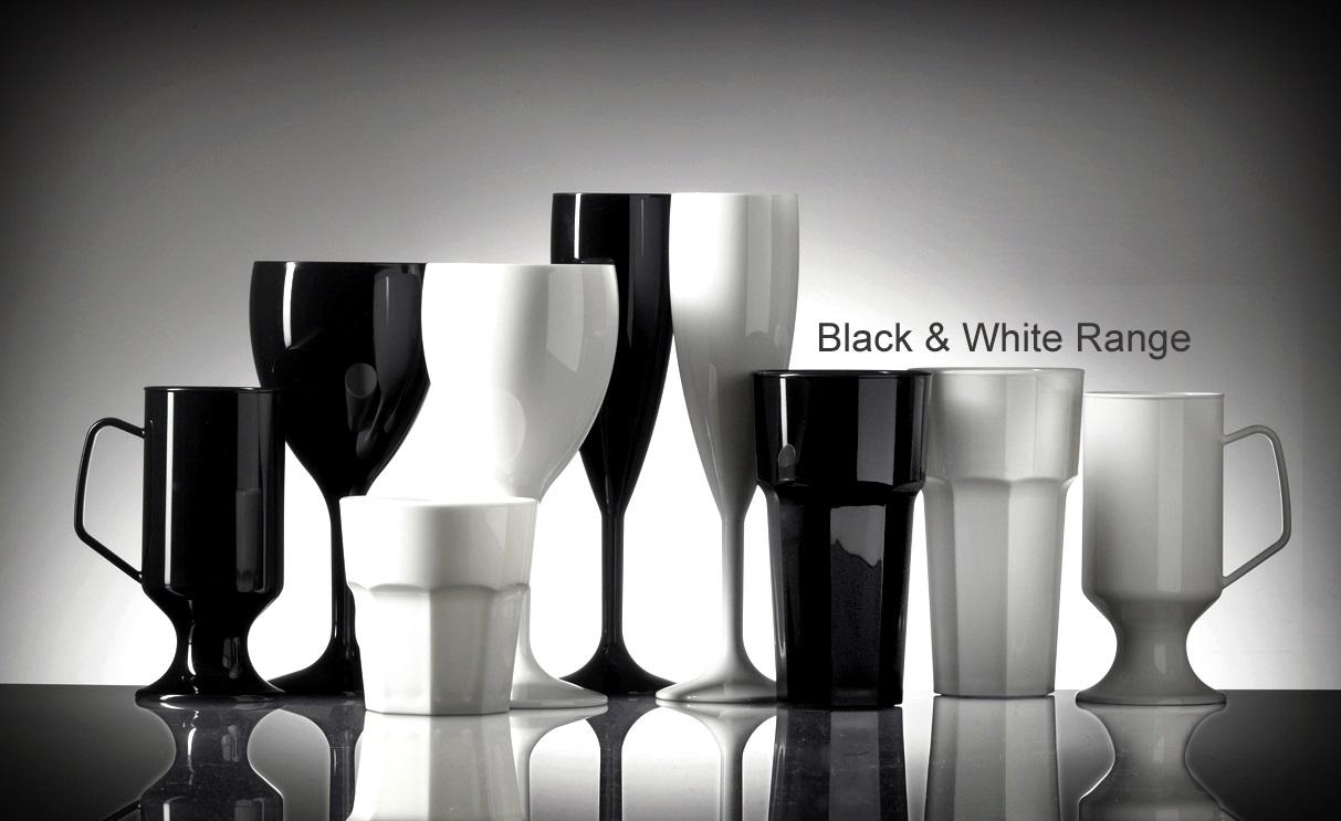 Black Polycarbonate Reusable Plastic Glasses