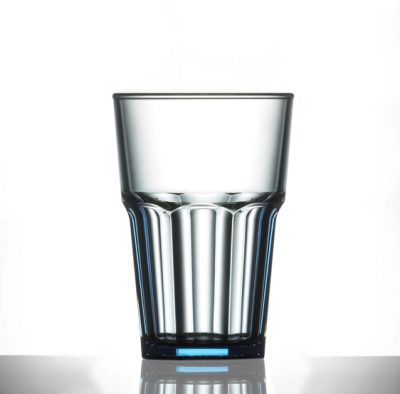 Elite Remedy Neon Blue Polycarbonate 14oz Glasses - 24 Pack