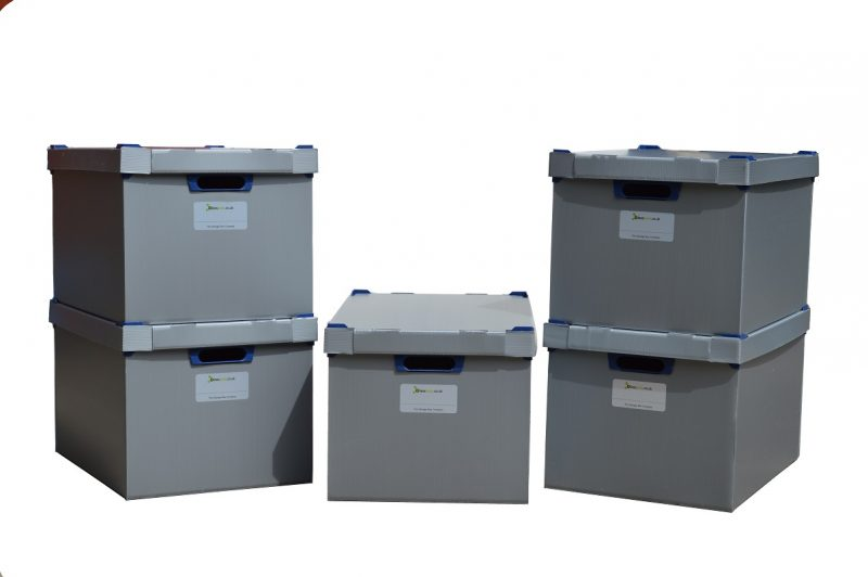 8. Extra Large Correx Stacking Storage Boxes, Pack of 5, Height 295mm