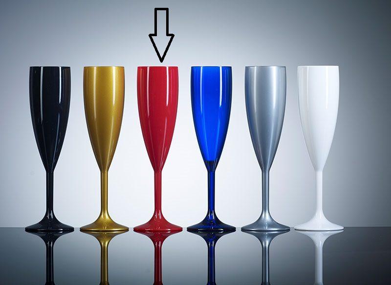 Red Champagne Flute Plastic - UK