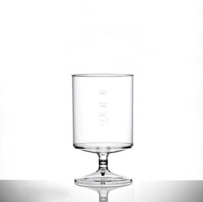 Econ Clear Polystyrene Plastic Stacking Wine Glass 312ml/12oz, CE Marked at 125ml, 175ml & 250ml - 70 Pack