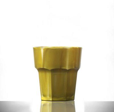 Plastic Glasses Remedy Gold Rocks - Chandlers Ford UK