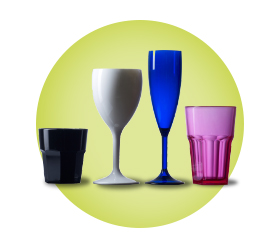 Elite Coloured Reusable Glasses