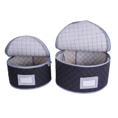 Quilted Plate Storage Cases, Set of Two