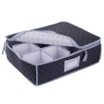 SORRY OUT OF STOCK - Cup, Mug or Glassware Quilted Storage Case - 12 cells