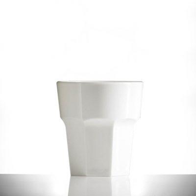 Elite Remedy Polycarbonate 9oz White Rocks Glasses - 36 Pack