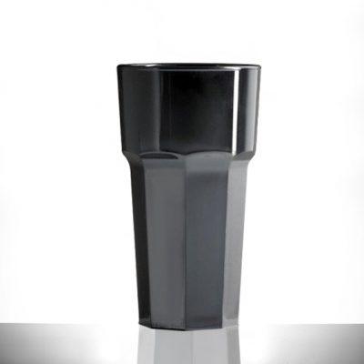 Black Plastic Wine Glasses - Unbreakable 11oz - 12 Pack