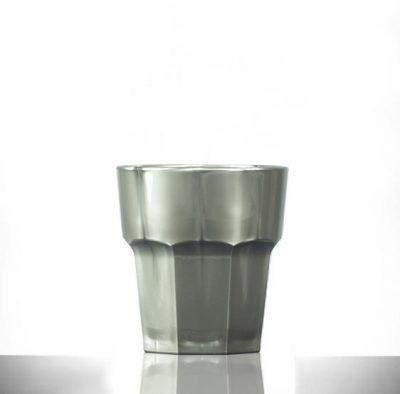 Silver Plastic glasses Rocks 9oz