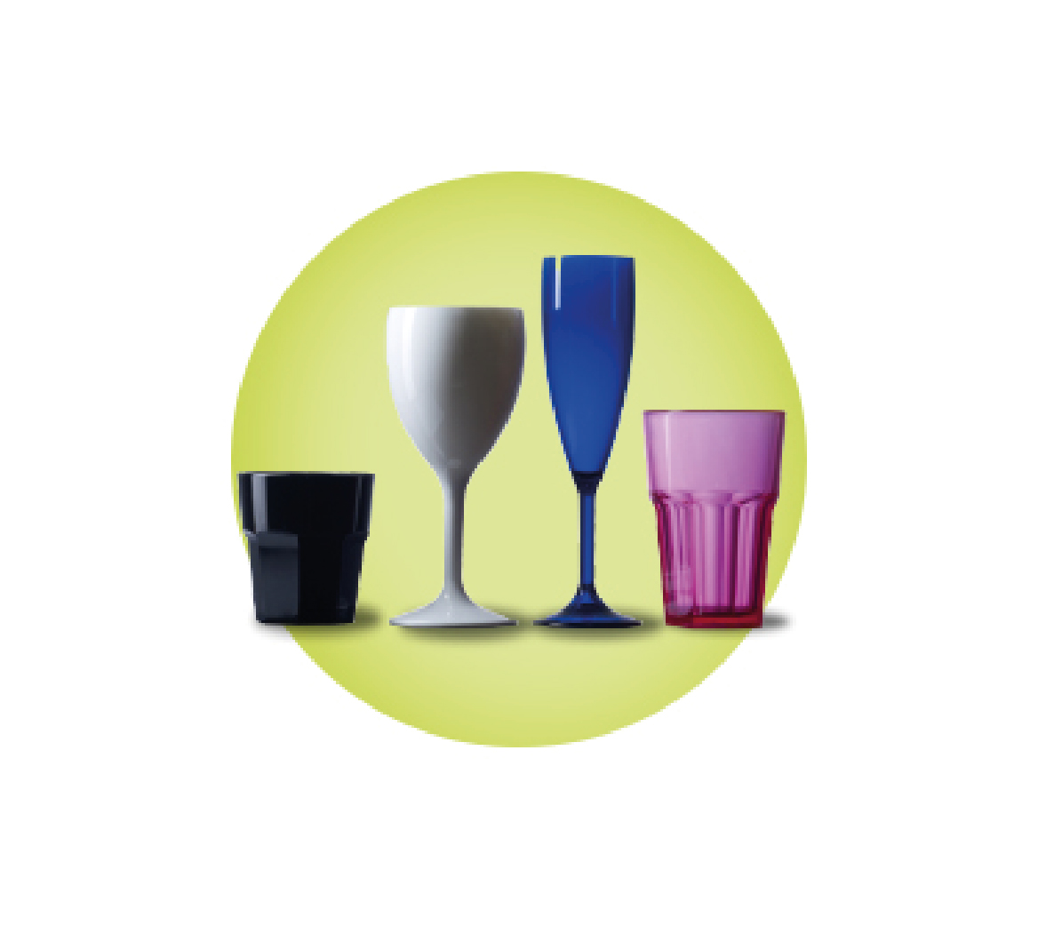 Elite Coloured Polycarbonate Glasses