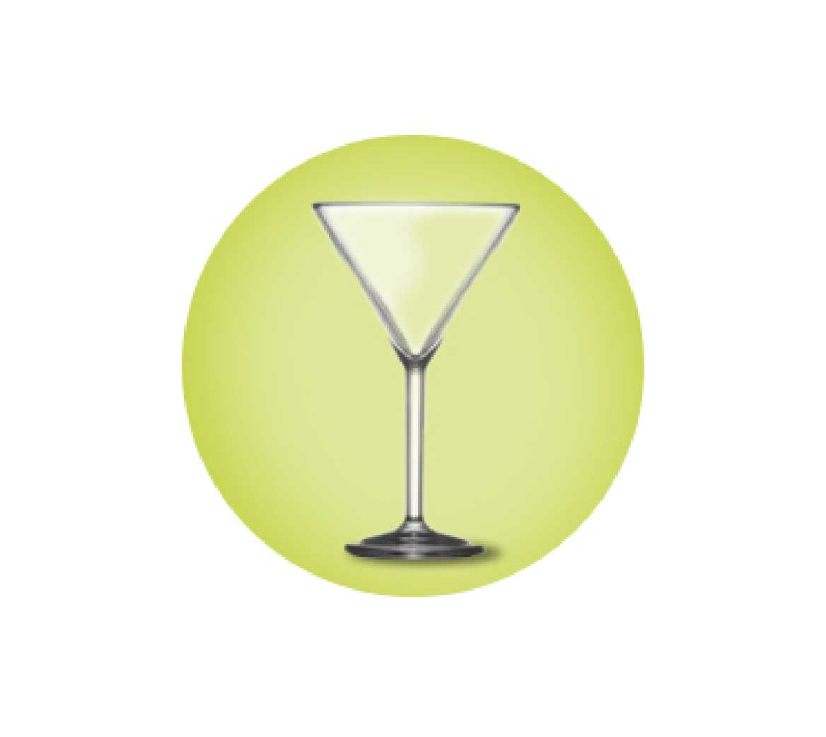 Elite Martini Glasses Polycarbonate