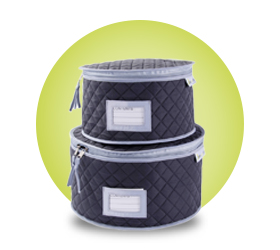 Quilted Plate Storage Cases