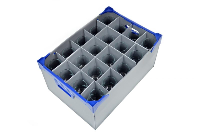 Vicrila Fully Tempered Conil Beer Glasses - 15 Pack & Beer Glass Storage Box 20oz