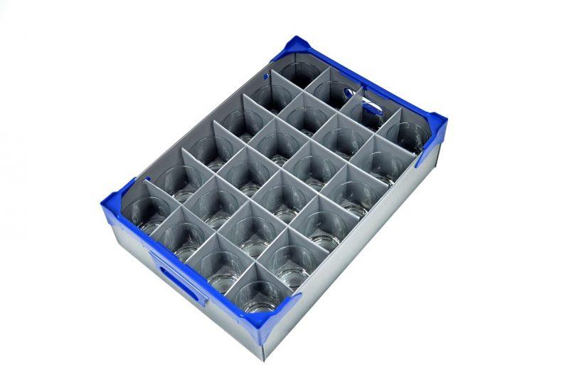 Ada Rocks Tumbler 30cl / 10.5oz - 24 Pack and Glassware Storage Box