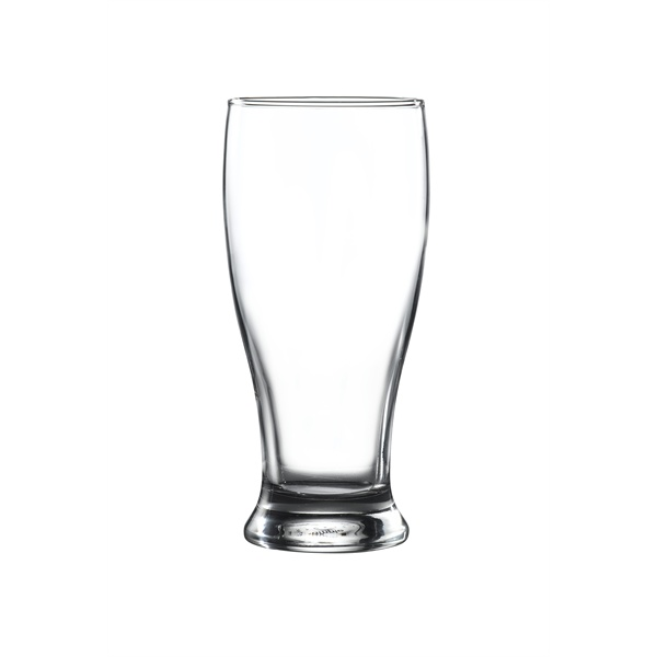 Brotto Beer Glass Pint 20oz - 20 Pack and Glassware Storage Box