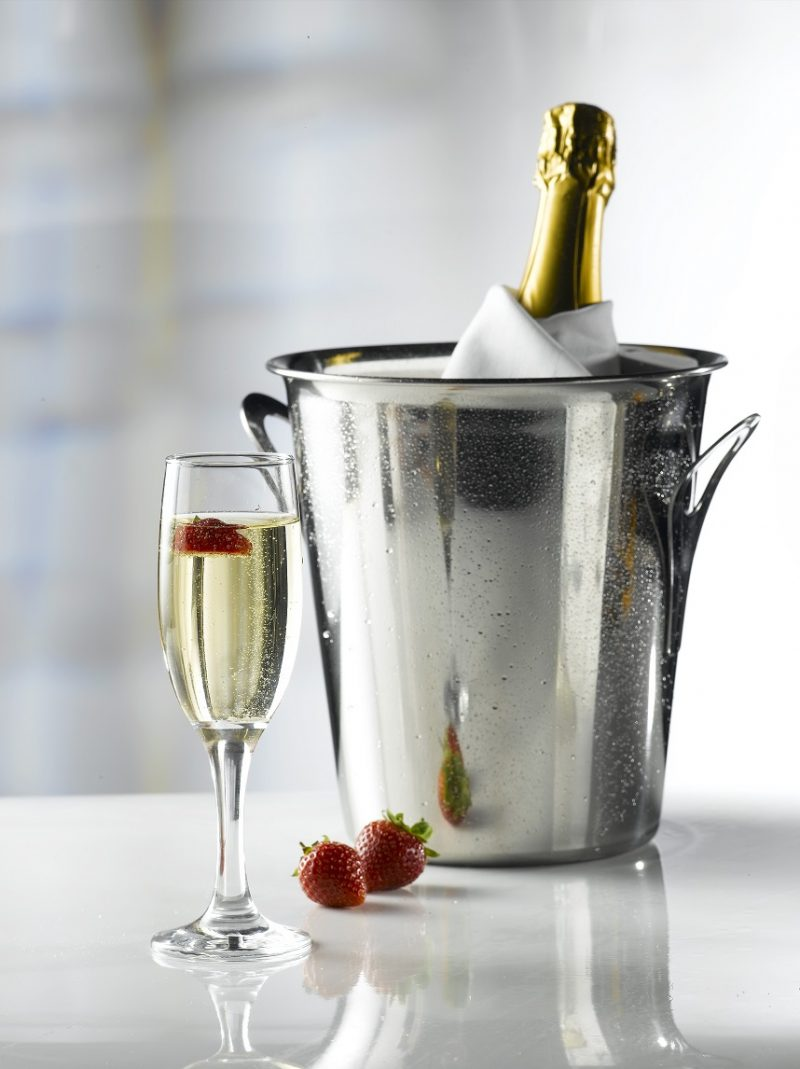 Empire / Misket Champagne Flute 19cl / 6.5oz - 35 Pack and Glassware Storage Box