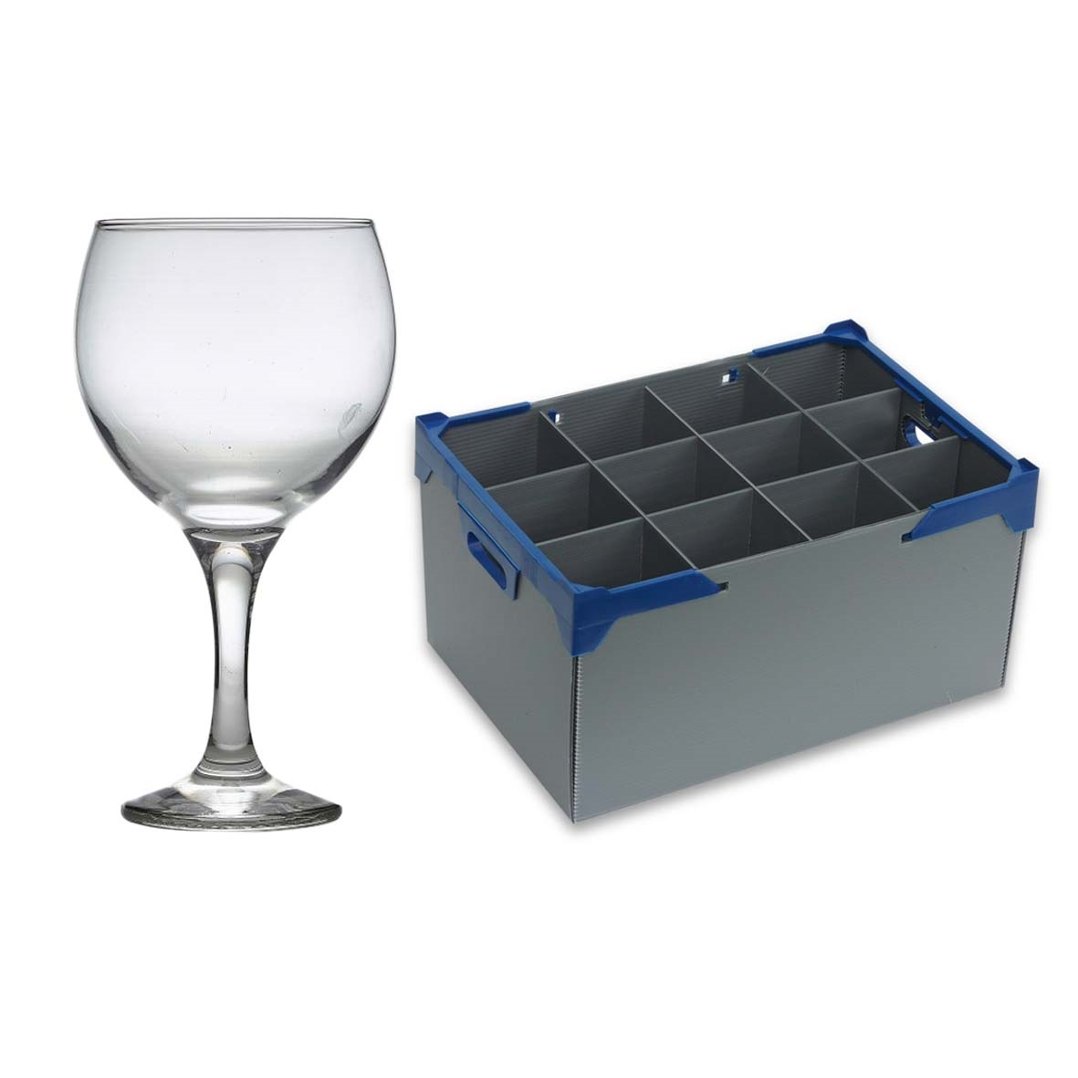 Gin Glasses and Martini Glasses with Glassware Storage Box