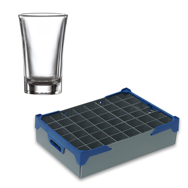 Shot Glasses and Glassjacks Glassware Storage Box