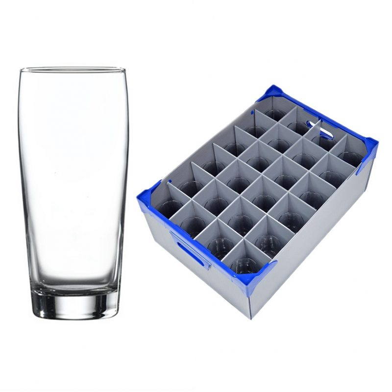 Bardy Hiball Tumbler 38cl / 13.25oz - 24 Pack and 1 Glassware Storage Box