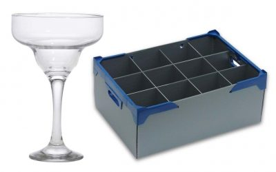 Margarita Cocktail Glass 29.5cl / 10.4oz and Glassware Storage Box