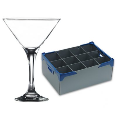 Martini Glass 17.5cl / 6oz - 12 Pack and Glassware Storage Box