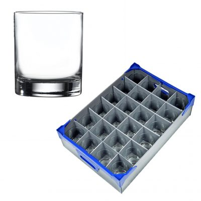 Ada Rocks Tumbler 30cl / 10.5oz - 24 Pack and Glassware Storage Box