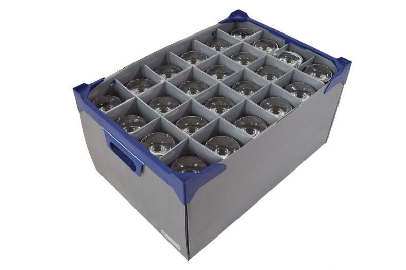 24 off Empire Wine Glasses, 34cl / 12oz and Glassware Storage Box