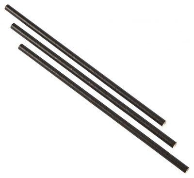 Paper Straws Black (500pcs)