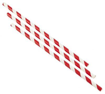 Paper Straws Red and White Stripes (500pcs)