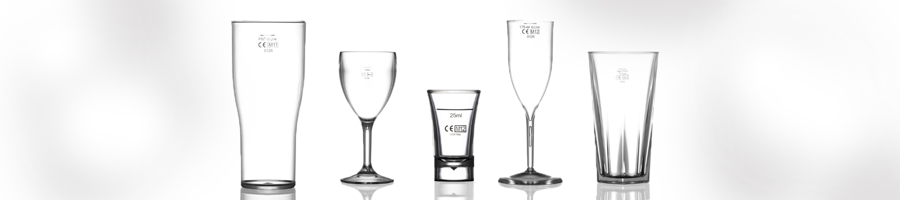 ce marked and lined plastic glasses