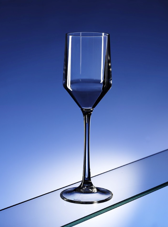 Champagne Reusable Clear Plastic Glasses