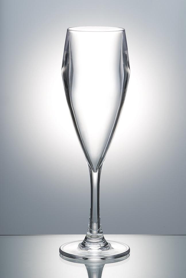 Premium Champagne Flute - Epernay - Reusable Plastic Glasses, 6 Pack