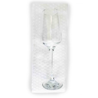 Champagne Flutes - Bubble Bag - W120mm x H340mm - Pack of 10