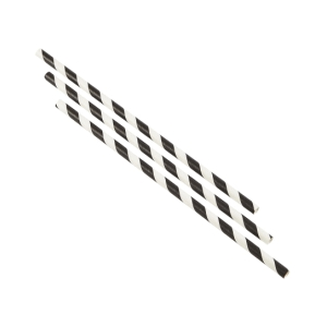 Paper Straws Black and White Stripes 14cm (500pcs)