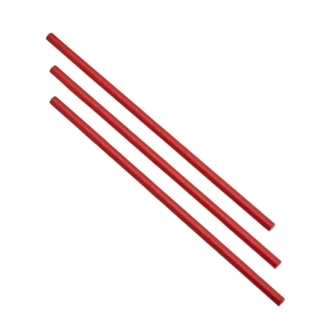 Paper Straws Red 20cm (500pcs)